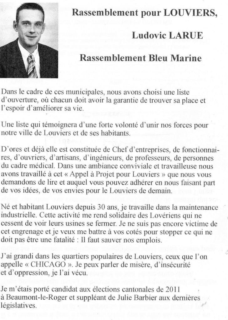 Nouveau tract de campagne : Rassemblement pour Louviers dans Campagnes louviers-1.1r