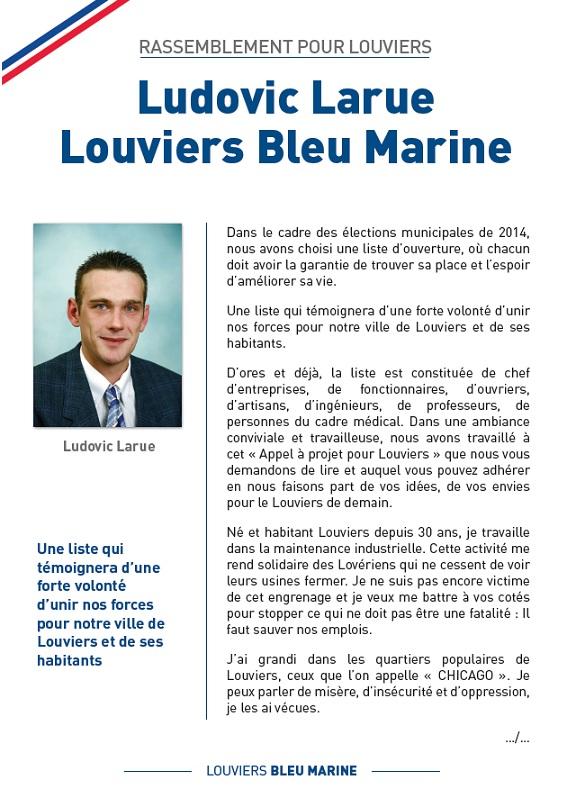 LOUVIERS - Front National - Rassemblement Bleu Marine dans Campagnes louviers