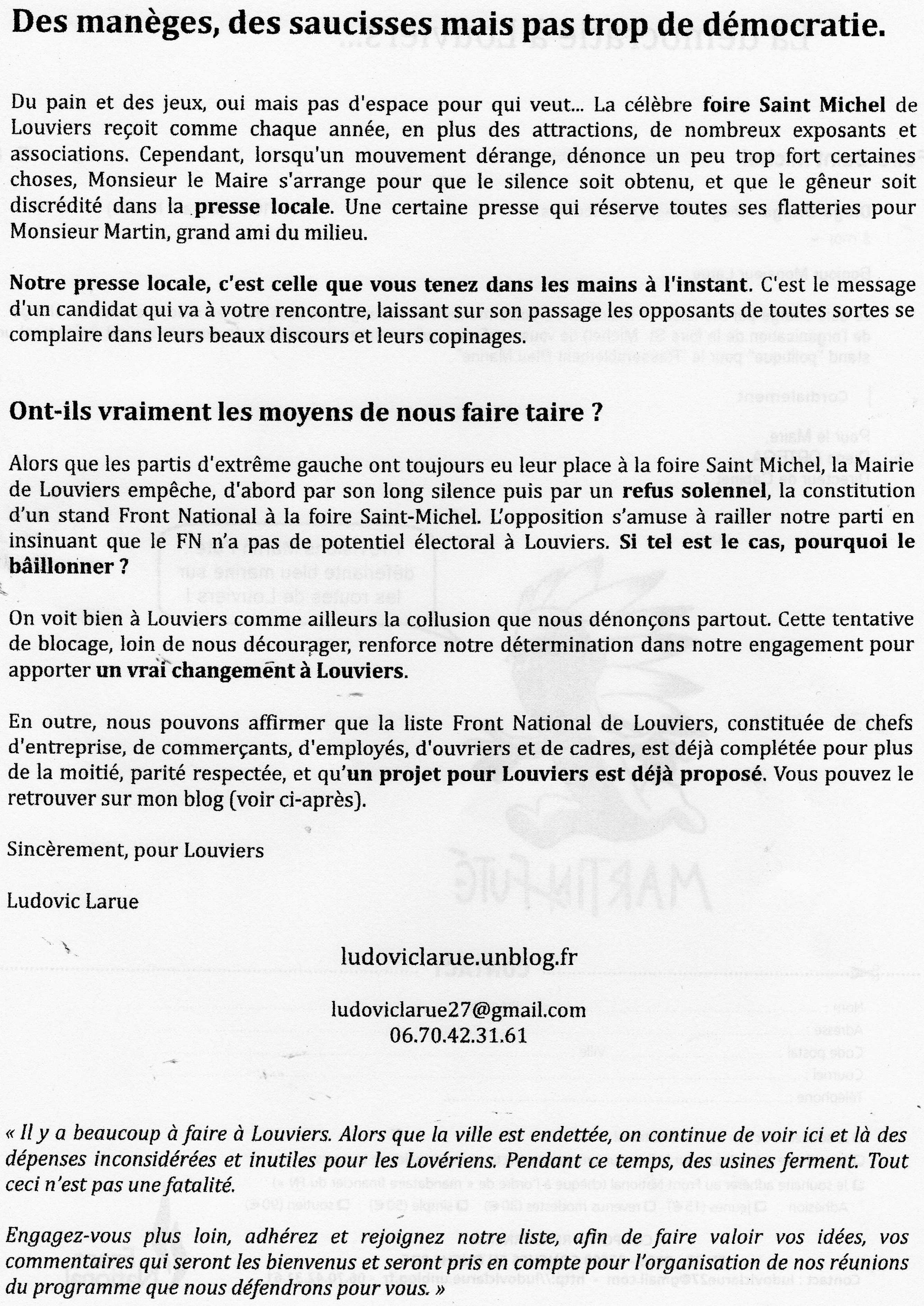 Louviers : Des manèges, des saucisses mais pas trop de démocratie.  dans Campagnes img032